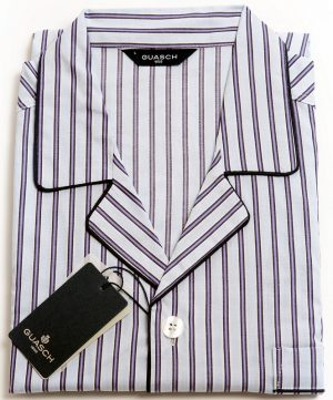 Guash Cotton Pyjamas - Purple Stripe