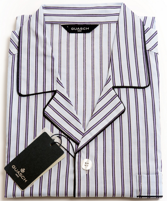 Guash Cotton Pyjamas - Purple Stripe