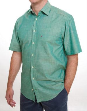 Jupiter 100% Cotton Short Sleeved Shirt - Green