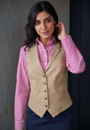 Brook Taverner Ladies Charlotte Chino Waistcoat