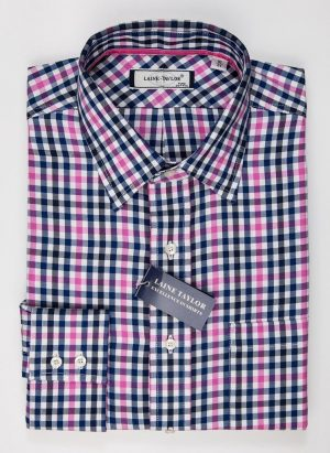 Laine Taylor Twill Check Shirt A1428