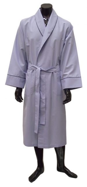 Lloyd Attree & Smith  Light Weight Dressing Gown In Blue