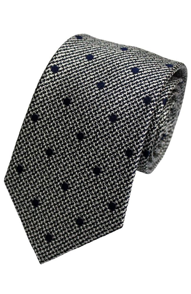 Lloyd Atree & Smith Wovern Silk Ties - D1204/3 -Grey