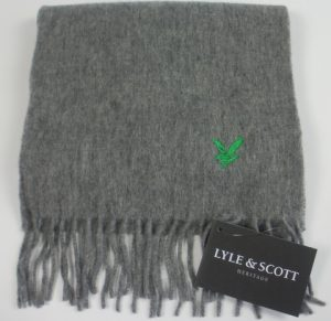 Lyle & Scott Plain Lambswool Scarf -Grey