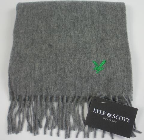 Lyle & Scott Plain Lambswool Scarf -Grey