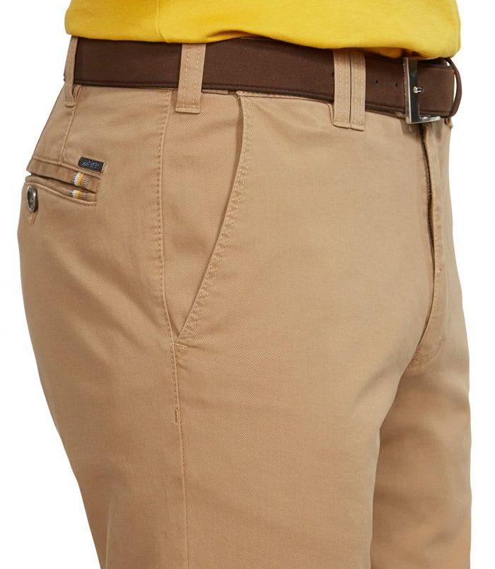 Meyer Soft Cotton Chino Travel Trousers - Oslo Fit