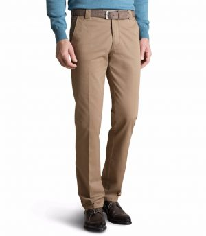 Meyer Stretch Chino Colourfast Roma Trouser- Beige