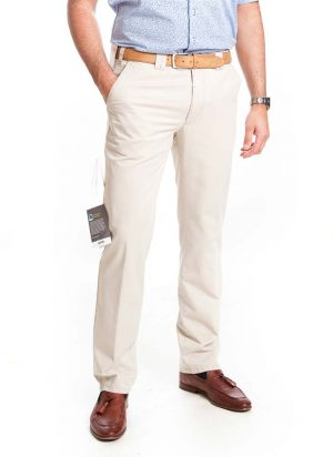Meyer Cotton Trousers - Oslo Fit - Cream