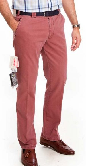 Meyer Cotton Trousers - Oslo Fit - Washed Red