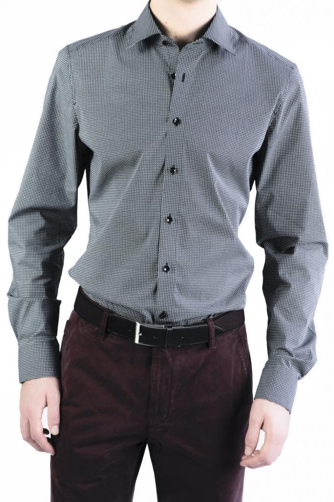OLYMP Level Five Slim Fit  Shirt - Grey