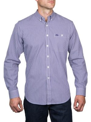 Raging Bull Bengal Stripe Shirt - Purple/White.