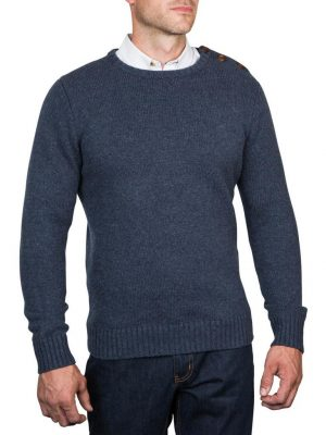 Raging Bull Button-Up Crew Neck Sweater