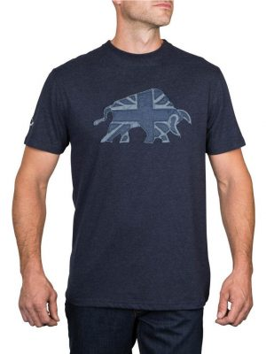 Raging Bull Chambray Applique T-shirt - Navy