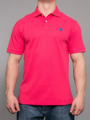 Raging Bull New Signature Polo - Vivid Pink