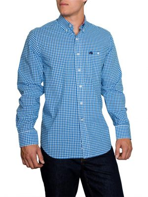 Raging Bull Signature Gingham Shirt - Cobalt
