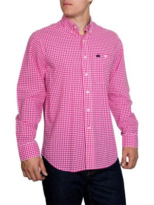 Raging Bull Signature Gingham Shirt - Vivid Pink