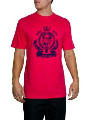 Raging Bull Crest T- shirt - Vivid Pink