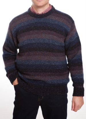 Scott Officer Silk & Wool Ribbed Patterned  Jumper