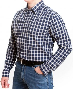 Seidensticker Casual Tailored Fit  Shirt - Navy Check