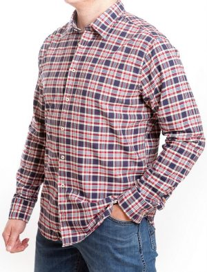Seidensticker Casual Shirt - Red & Blue Check