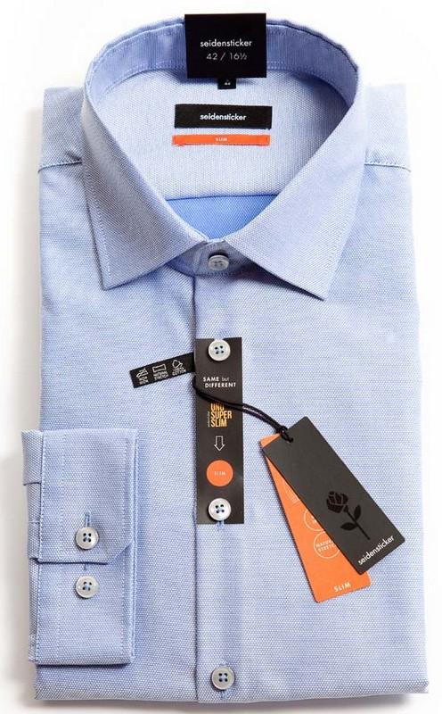 Seidensticker Slim Fit Shirt - Blue