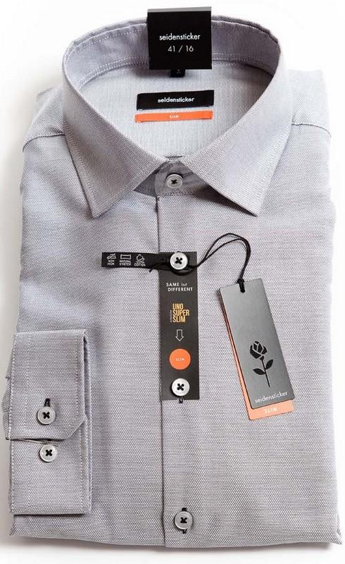 Seidensticker Slim Fit shirt - Silver