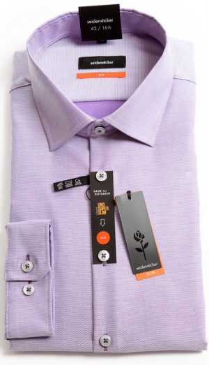 Seidensticker Slim Fit Shirts - Lilac