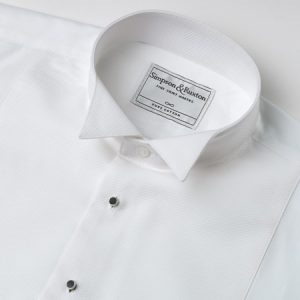 Simpson and Ruxton Marcella Wing Collar Dress Shirt