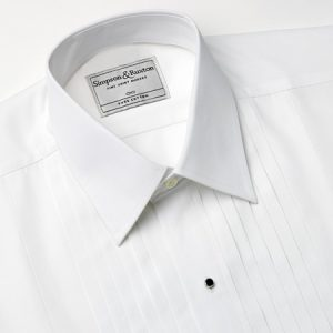 Simpson and Ruxton Paris Pleated Dress Shirt