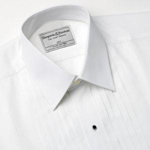 Simpson and Ruxton Paris Pleated Dress Shirt