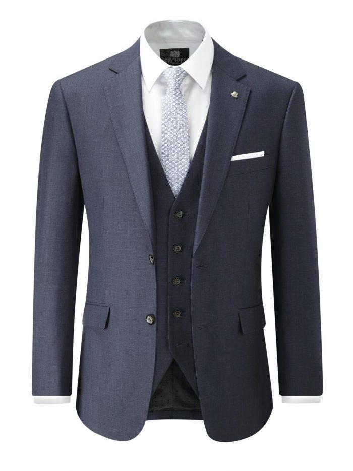 Skopes Joss Wool Blend Suit Jacket - Indigo