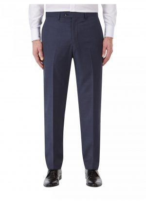 Skopes Joss Wool Blend Suit Trousers - Indigo