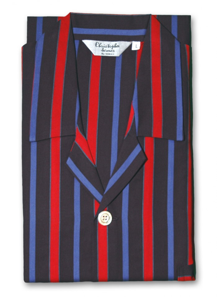 Somax 100% Cotton Striped Pyjamas - Red