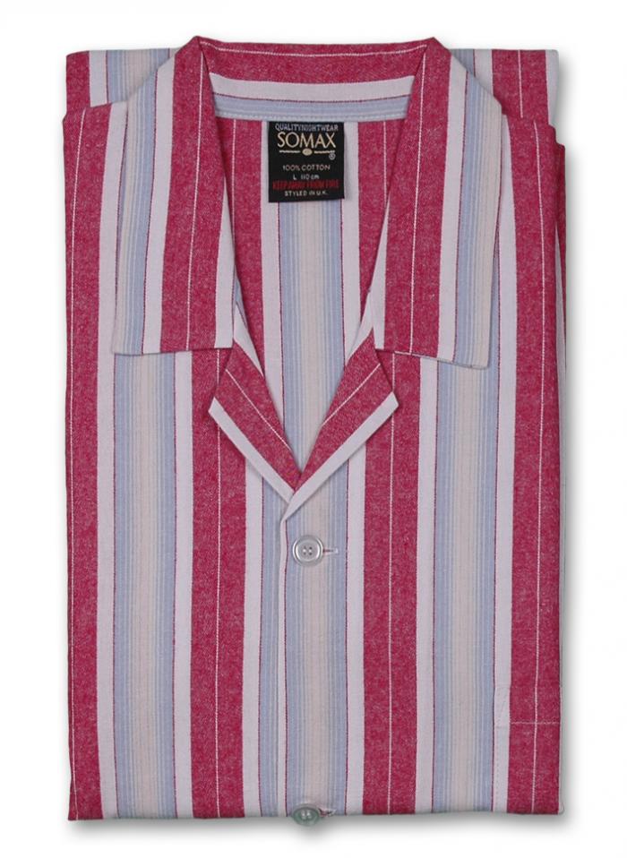 Somax Brushed Cotton Pyjamas - Striped