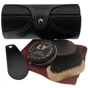 Sophos - Travel Shoe Care kit In Black Leather