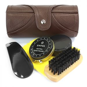 Sophos - Travel Shoe Care kit In Brown Leather