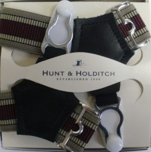 Hunt & Holditch Striped Sock Suspenders