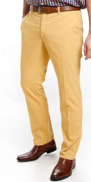 Sunwill Light Weight Cotton Chinos - Yellow