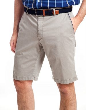 Sunwill Cotton Tailored Shorts - Atlanta Grey