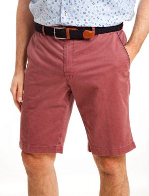 Sunwill Cotton Tailored Shorts - Chicago Red