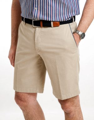 Sunwill Cotton tailored Shorts - Salt Lake Beige