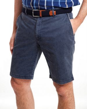 Sunwill Cotton Tailored Shorts - Vegas Blue