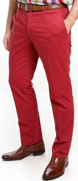 Sunwill Light Weight Cotton Chinos - Red