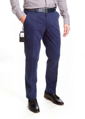 Sunwill Standard Weight Cotton Chinos - Blue