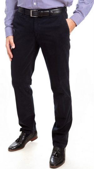 Sunwill Standard Weight Cotton Chinos - Dark Navy