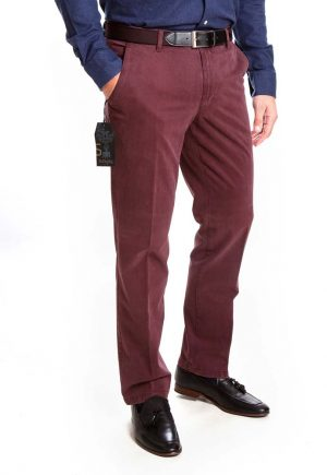 Sunwill Standard Weight Cotton Chinos - Wine