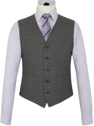The Label Esteem Range - Waistcoat - Silver Grey