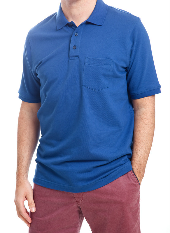 Today's Man Polo Shirt With Pocket - Blue