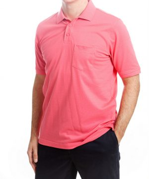 Today's Man Polo Shirt With Pocket - Deep Pink