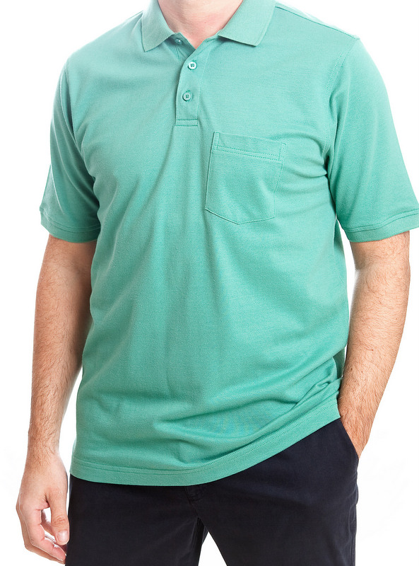 Today's Man Polo Shirt With Pocket - Green